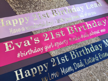 21st Birthday Banner Personalised